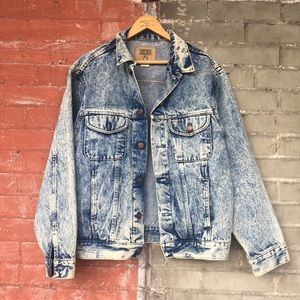 Vintage Acid Washed Jean Jacket
